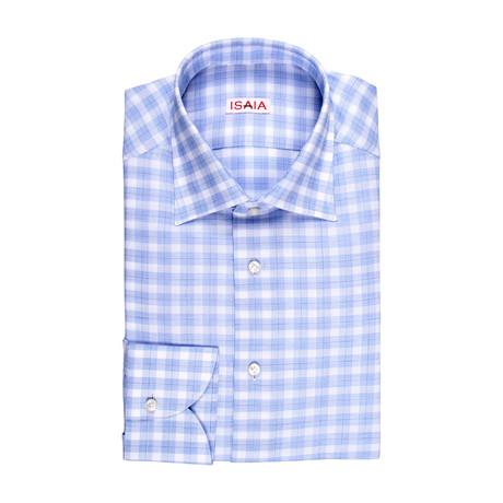 Leondardo Checked Dress Shirt // Blue (US: 15R)