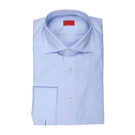 Alba Solid French Cuff Dress Shirt // Blue (US: 15R)
