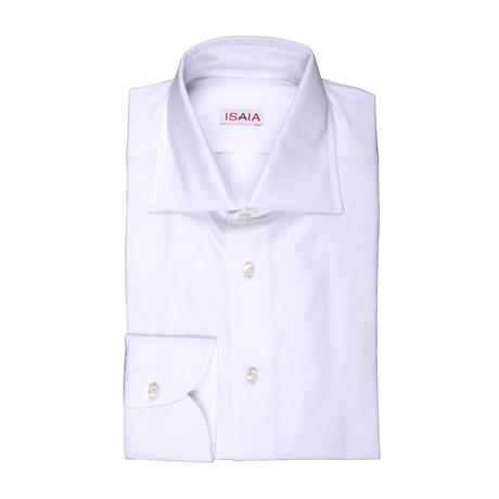 Isaia // Angelo Dress Shirt // White (US: 15R)