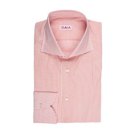 Geometric Dress Shirt // Red (US: 15R)