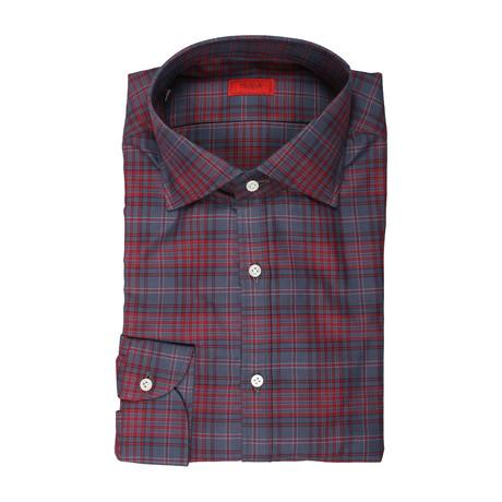 Matteo Plaid Dress Shirt // Gray (US: 15R)