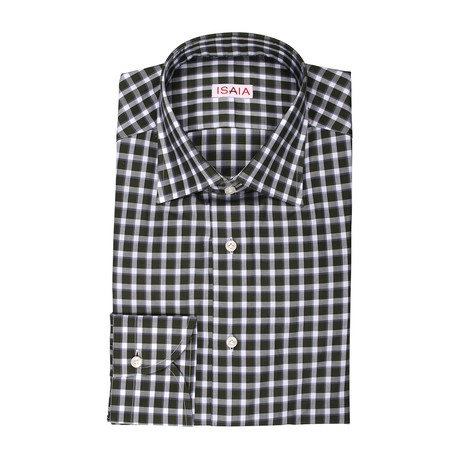 Gateana Checked Dress Shirt // Olive (US: 15R)