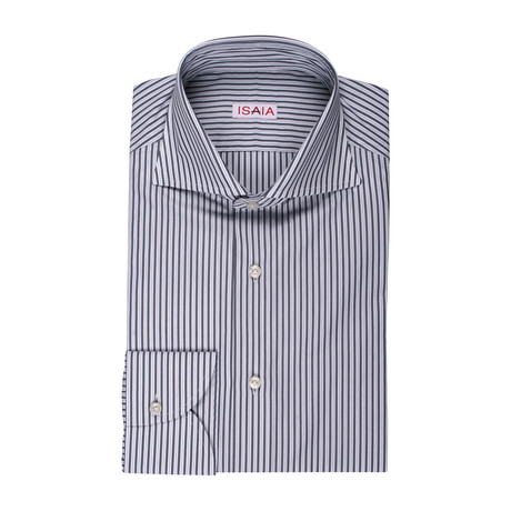 Luciano Striped Dress Shirt // Gray (US: 15R)