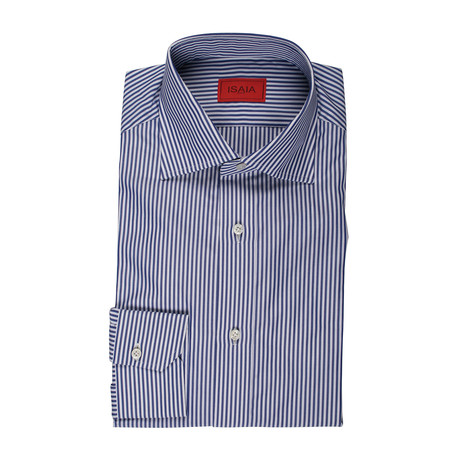 Montes Striped Dress Shirt // Blue (US: 15R)