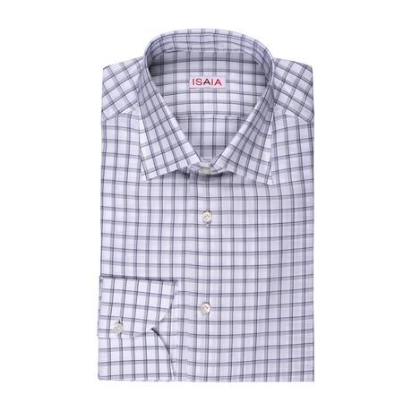 Isaia // Silvio Checked Dress Shirt // Multicolor (US: 15R)