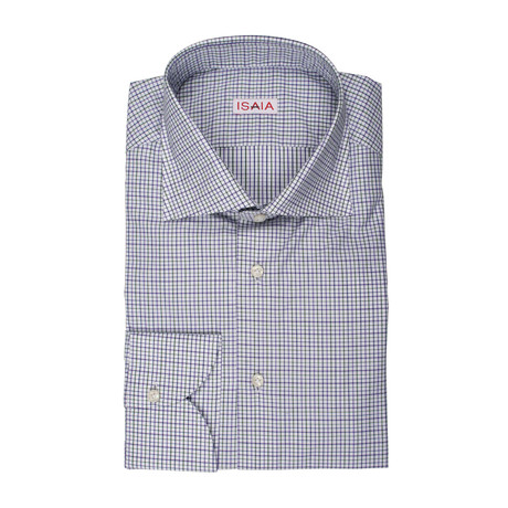 Isaia // Niccplo Checked Dress Shirt // Multicolor (US: 15R)