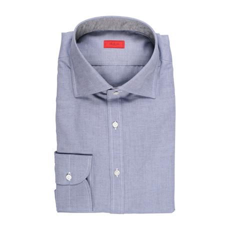 Isaia // Bellance Dress Shirt // Denim Blue (US: 15R)