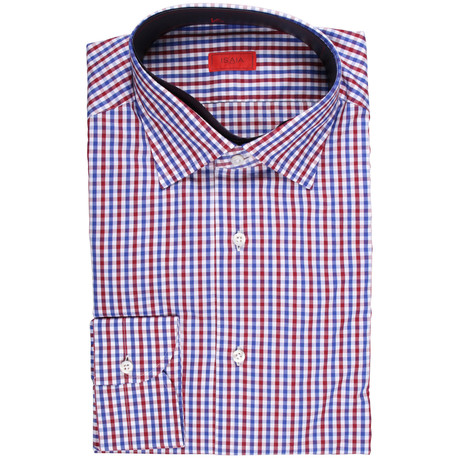 Adolfo Checked Dress Shirt // Multicolor (US: 15R)