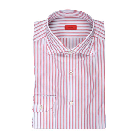 Aldo Striped Dress Shirt // Red (US: 15R)