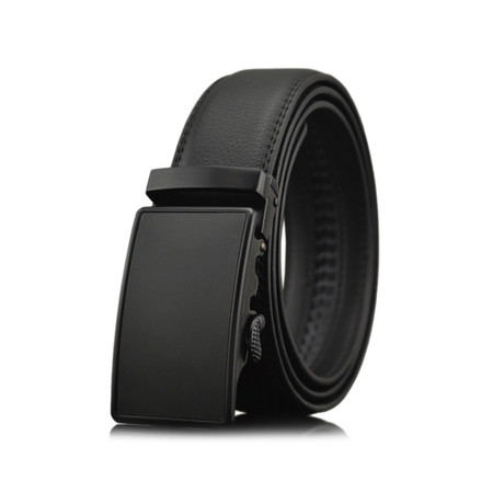 Naveen Leather Belt // Black Buckle