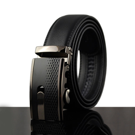 Sidney Leather Belt // Black Buckle