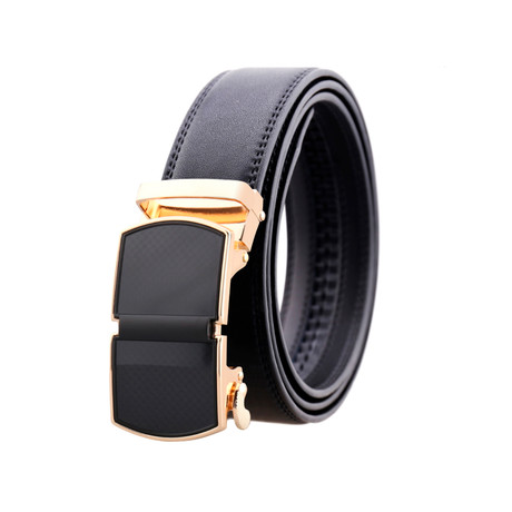 Frank Leather Belt // Gold Buckle