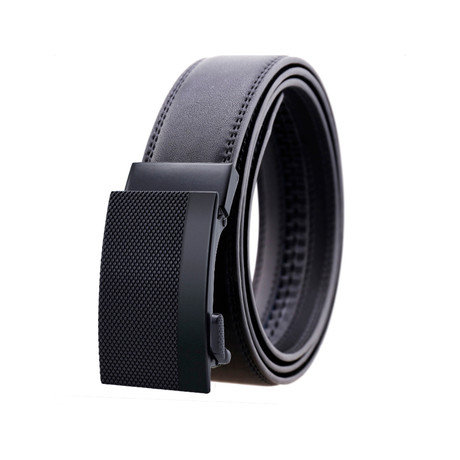 James Leather Belt // Black Buckle