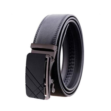Campbell Leather Belt // Black Gun Metal Buckle