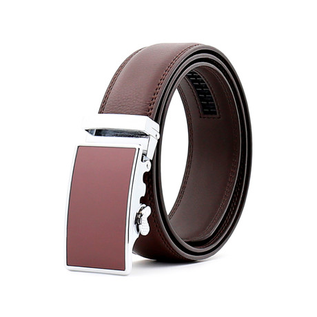 Humphrey Leather Belt // Brown Buckle