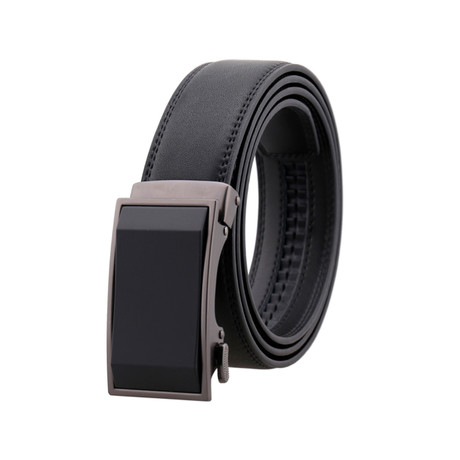 Shane Leather Belt // Black Buckle