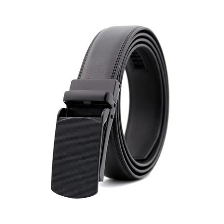 Joey Leather Belt // Black Buckle