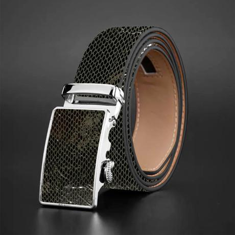 Max Snake Skin Belt // Black
