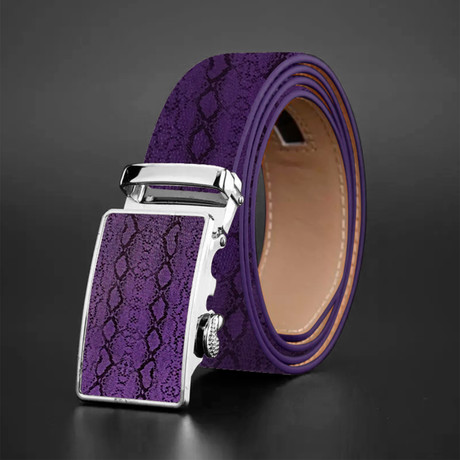 Zayn Crocodile Belt // Purple