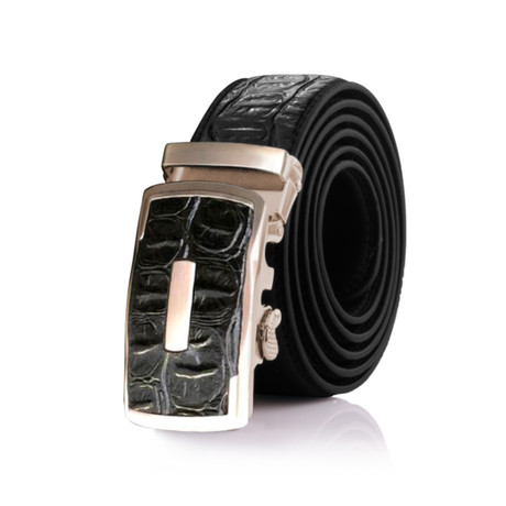Harry Crocodile Belt // Black