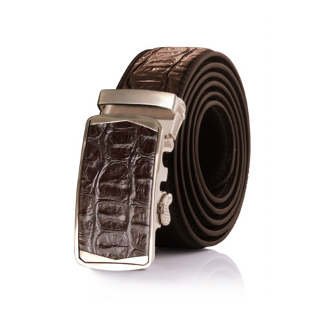 Steve Crocodile Belt // Brown
