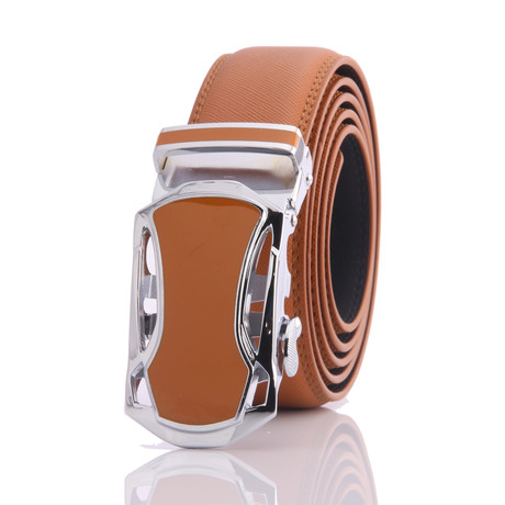 Hall Leather Belt // Tan Belt + Tan Buckle