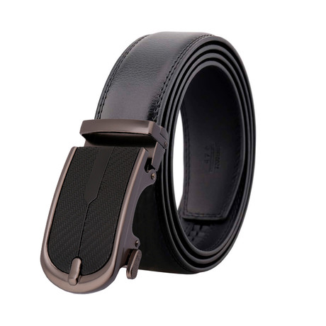 David Leather Belt // Black Belt + Black Buckle