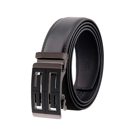Jason Leather Belt // Black Belt + Black Buckle