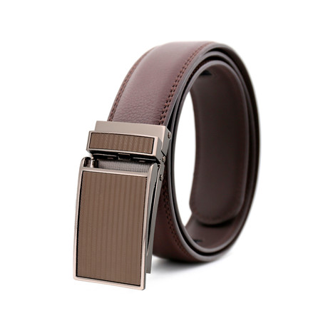 Malcom Leather Belt // Brown Belt + Brown Buckle