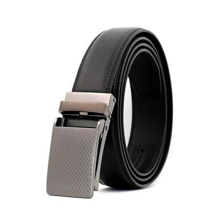 Tommy Leather Belt // Black Belt + Black Buckle