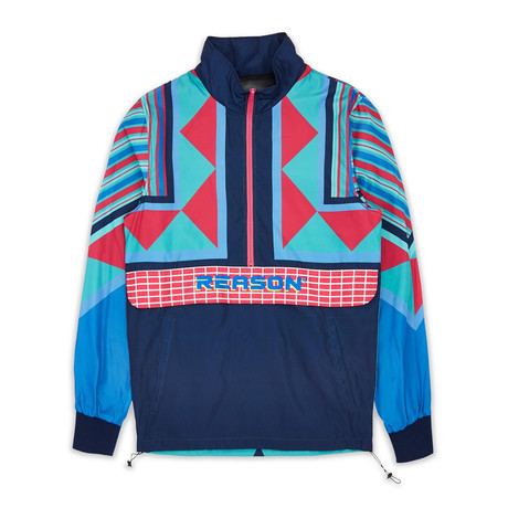 Neo Abstract Track Jacket - Blue // Multi (S)