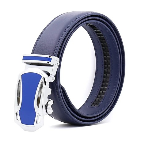 Lee Leather Belt // Blue Belt + Blue Buckle
