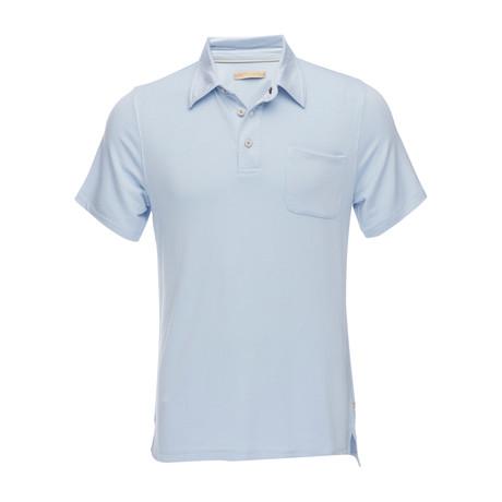 Nicolas 3-Button Pocket Polo // Light Blue (XS)