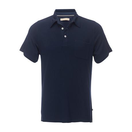 Nicolas 3-Button Pocket Polo // Navy (XS)