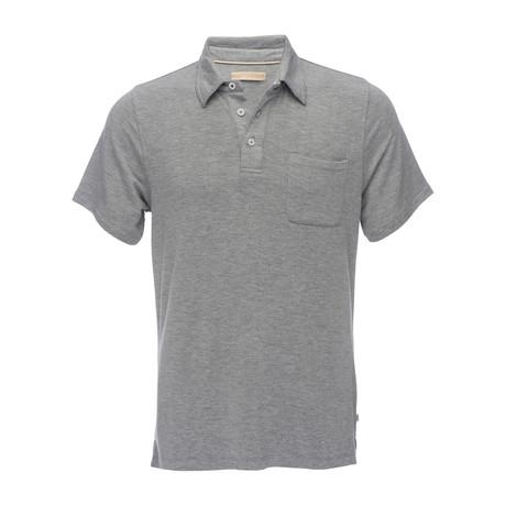 Nicolas 3-Button Pocket Polo // Heathered Grey (XS)