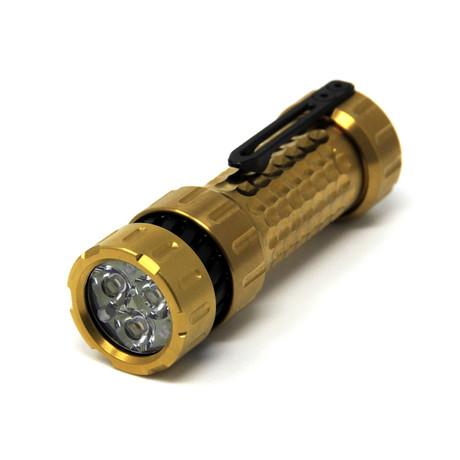 Titanium EDC Flashlight // Limited Edition Gold + Black // Turbo