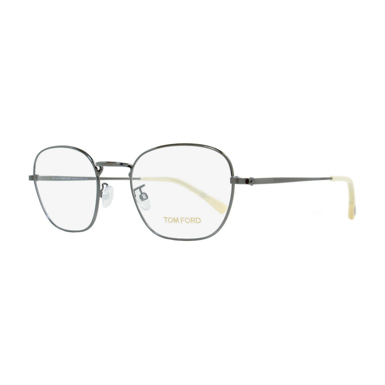 7dfc0ef896 D2de94f07e7a6654ff22bd5eb8bae2be medium. Unisex    Oval Eyeglasses    Dark  Ruthenium + White Horn