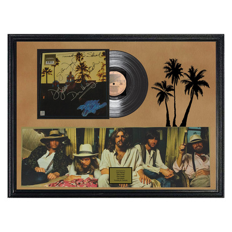 Signed + Framed Album Collage // Hotel California // The Eagles
