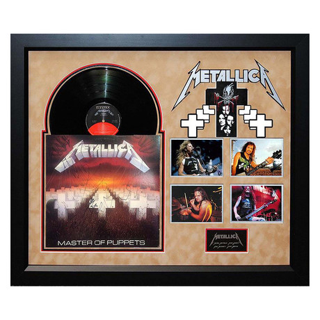 """Signed + Framed Album Collage // """"Masters of Puppets"""" //Metallica"""