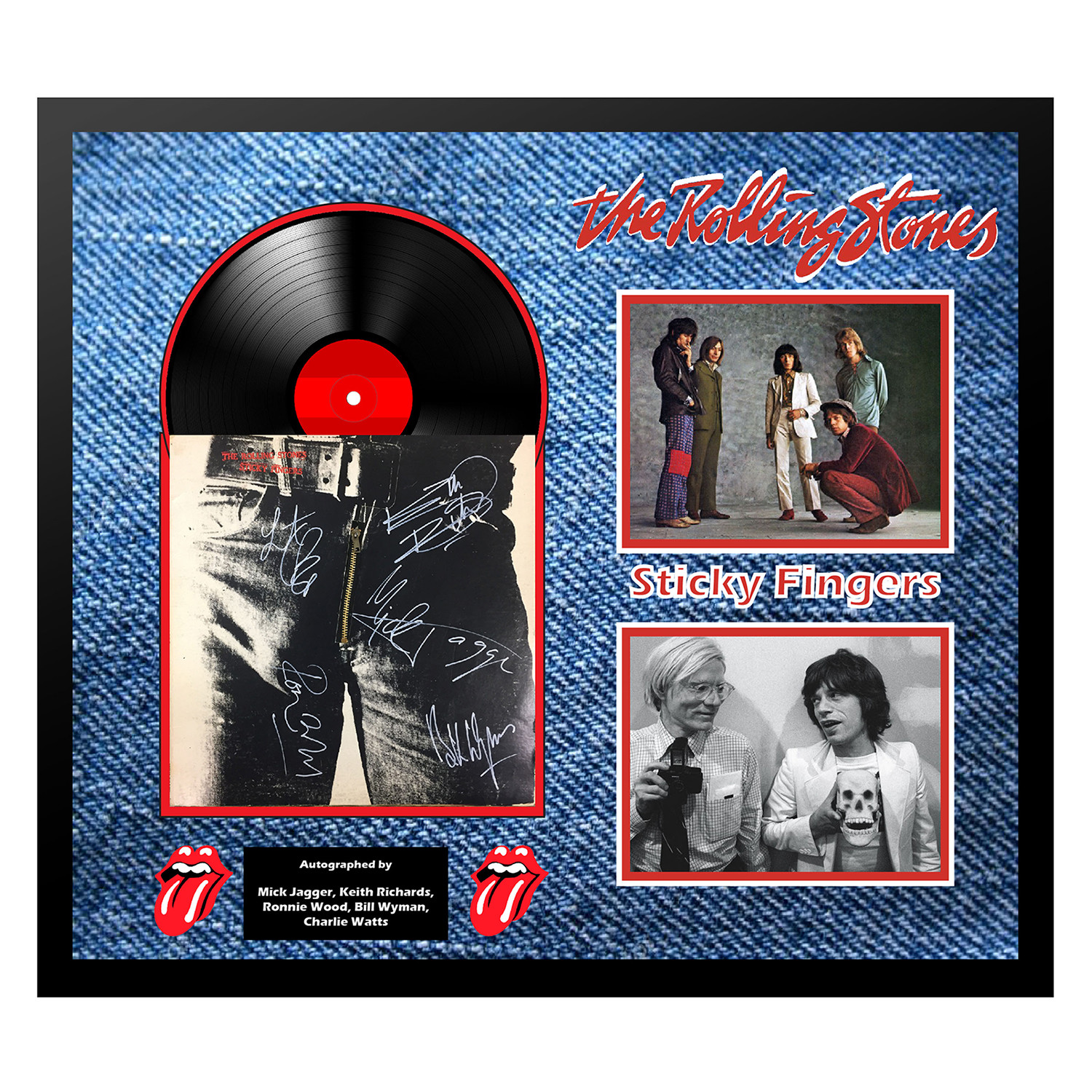 Signed Framed Album Collage Quot Sticky Fingers Quot The