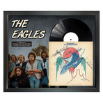 "Signed + Framed Album Collage // ""On the Boarder"" // The Eagles"