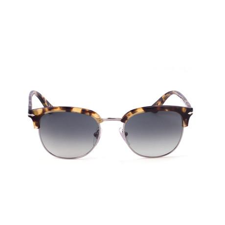 Persol // Classic Clubmaster Sunglasses // Tortoise Silver + Gray Gradient