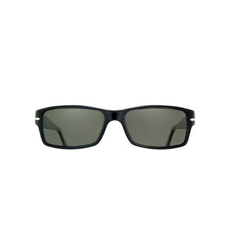 Classic Rectangle Polarized Sunglasses // Black + Gray Polarized