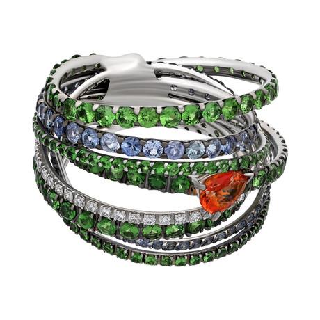 Stefan Hafner 18k White Gold Ring // Ring Size: 7.75