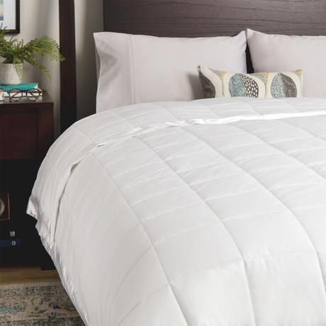 Temperature Regulating Blanket // White (Twin)