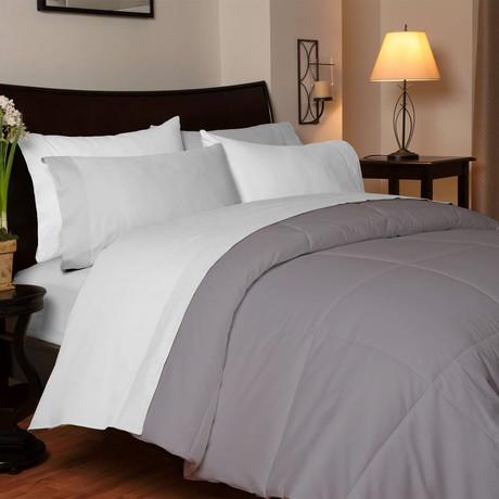 Temperature Regulating Comforter // Stone (Queen)