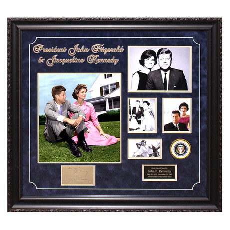 Signed + Framed Signature Collage // John F. Kennedy and Jackie Kennedy