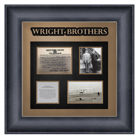 Signed + Framed Collage // The Wright Brothers
