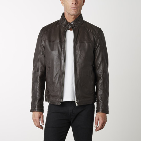 Elementary Leather Jacket // Brown (XS)
