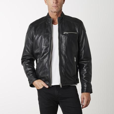 Motorbike Napa Leather Jacket // Black (XS)